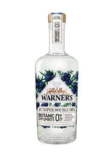 Warner's 0% Botanic Garden Spirits Juniper Double Dry bottle shot