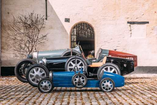 Old meets new - The Bugatti Baby II has been designed to complement the clients existing Bugatti collection-min
