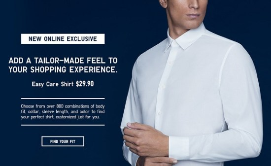 "UNIQLO: Neck and Sleeve ""Easy Care"" Shirts"
