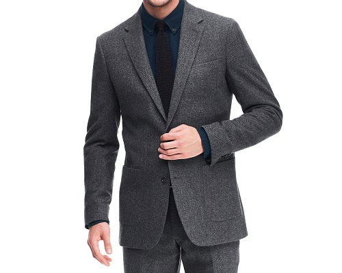 Lands' End Tailored Fit Wool Flannel Sport Coat