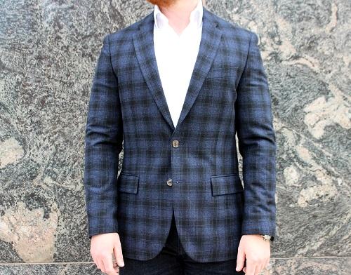 J. Crew Factory Wool Blend Plaid Sportcoat