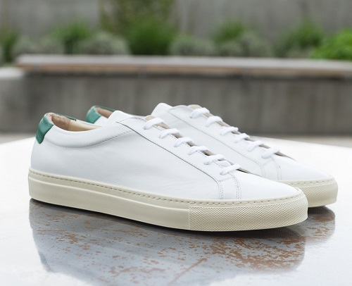 Gustin Made in Italy White/Green Sneakers