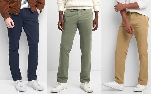 GAP Vintage Wash Straight Fit Khakis