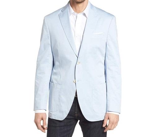 JKT Trim Fit Stretch Cotton Blazer