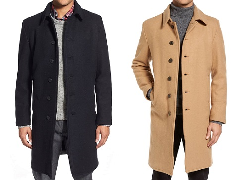 Schott NYC Made in the USA Wool Blend Officer's Coat