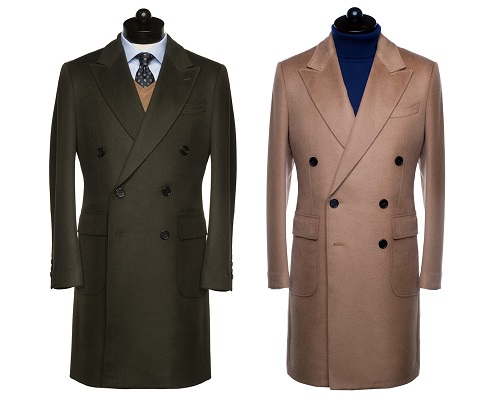 Spier & Mackay Double Breasted Wool/Cashmere Overcoat
