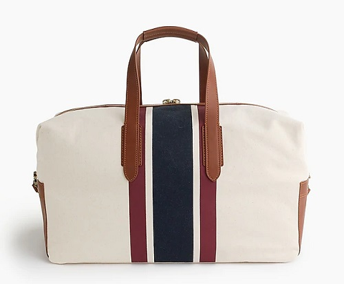 Oar Stripe Canvas Weekender Bag