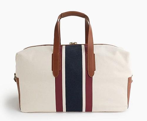 Oar Stripe Canvas Weekender Bag