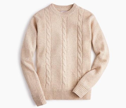 Wallace & Barnes Cableknit Crewneck Sweater