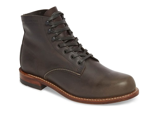 Wolverine 1000 Mile Plain Toe Boot in Charcoal