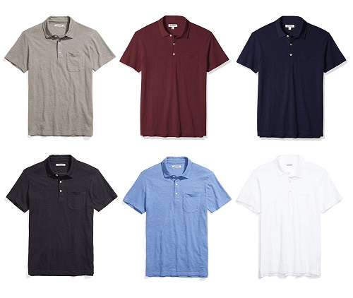 Amazon Goodthreads Lightweight Slub Polo