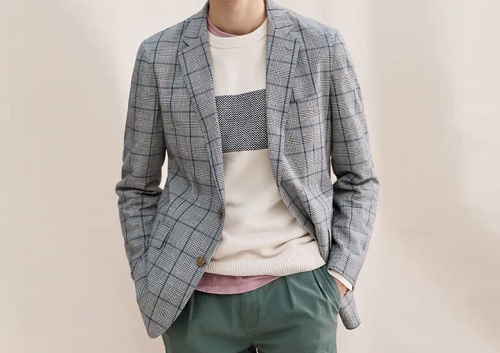 J. Crew Cotton/Linen Unstructured Suit Jacket