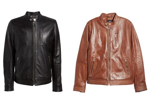 Lamarque Leather Racer Jacket