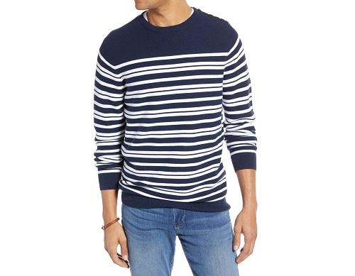 1901 Stripe Crewneck Sweater