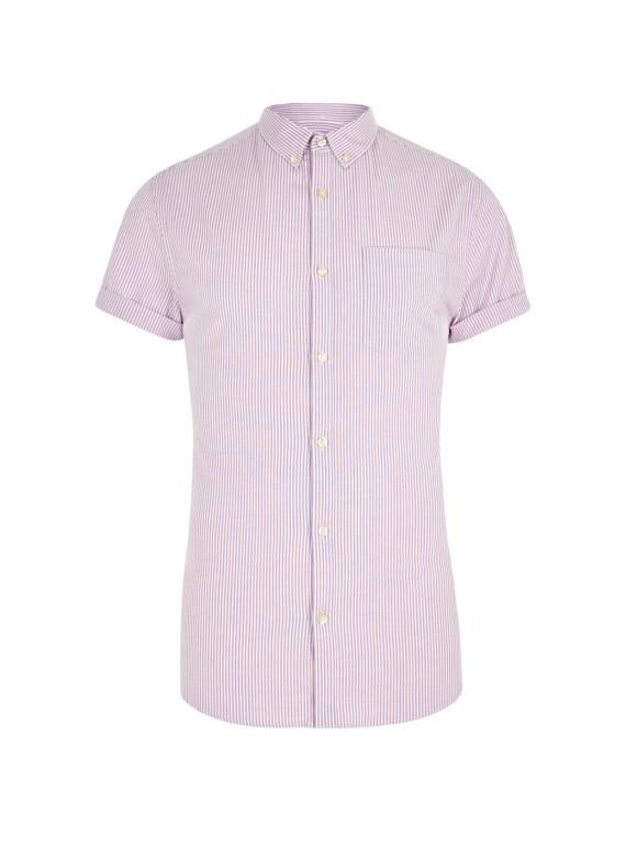 dapper monkey purple stripe shirt