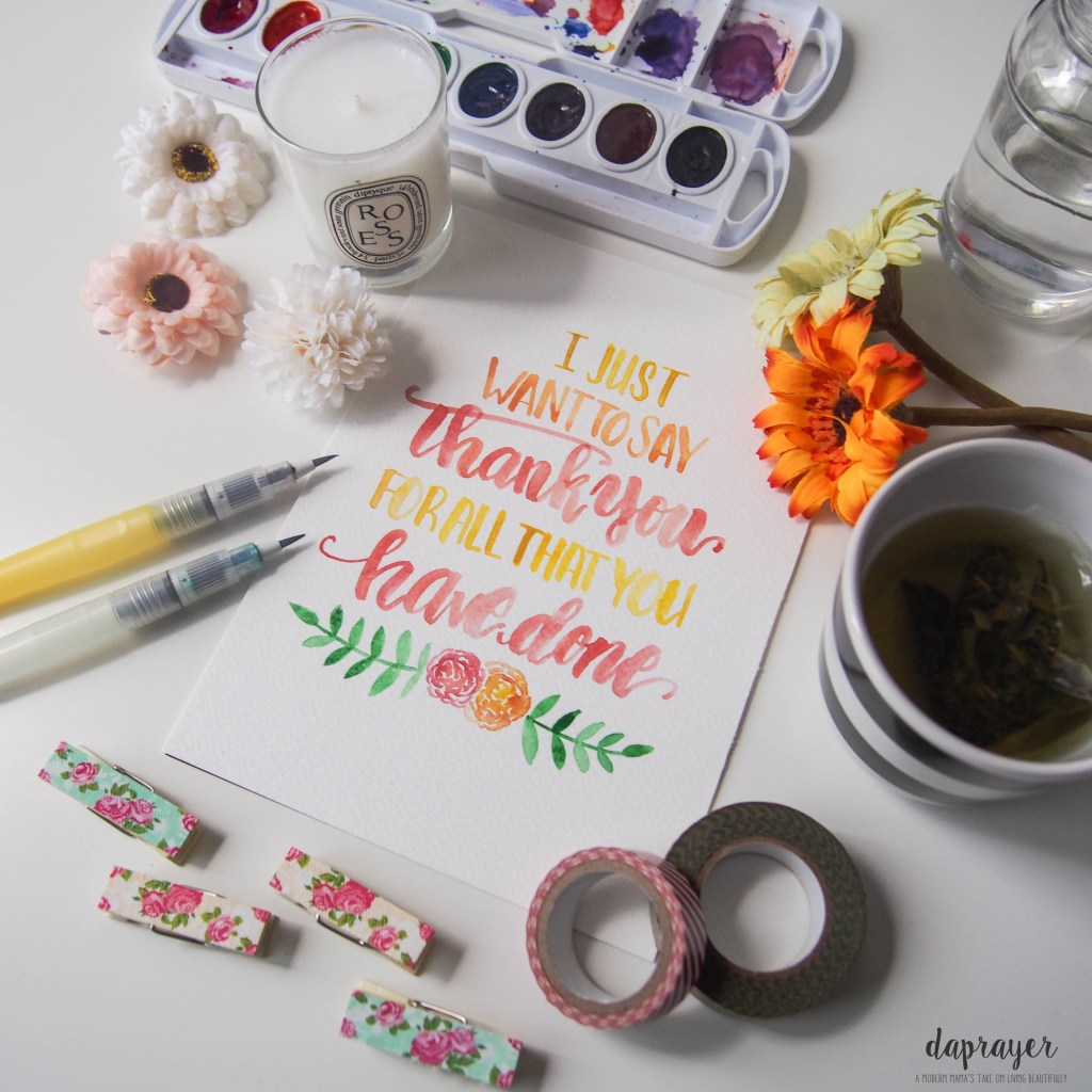 Free Brush Lettering Thank You Note