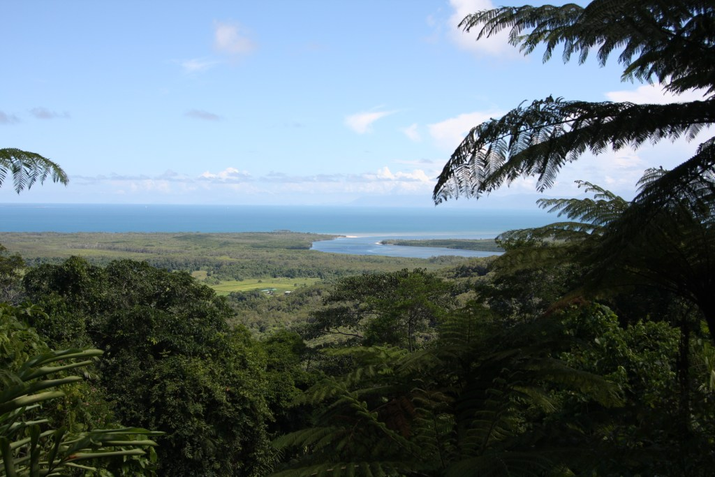 Ocean view from the Daintree Rainforest