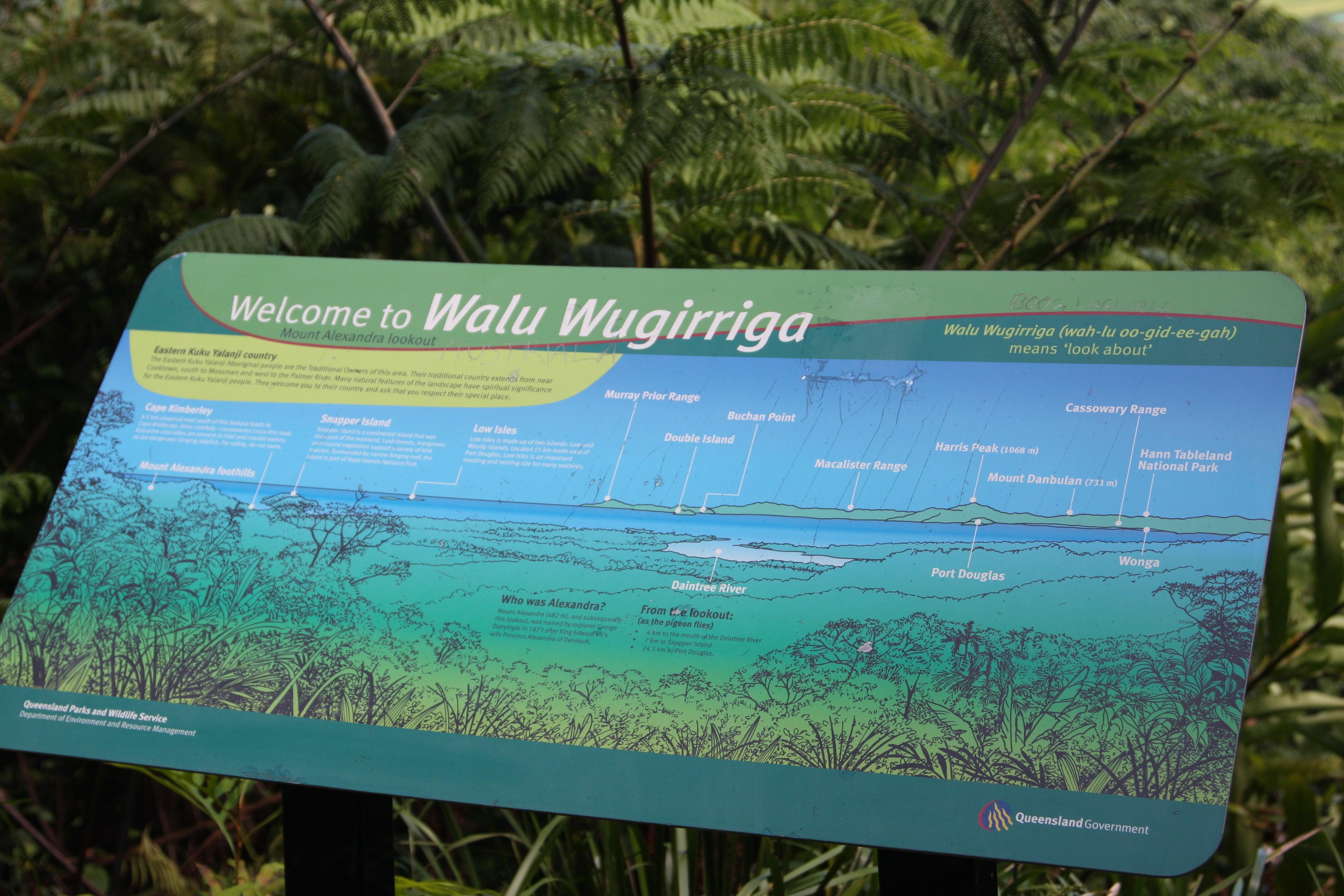 Walu Wugirriga sign