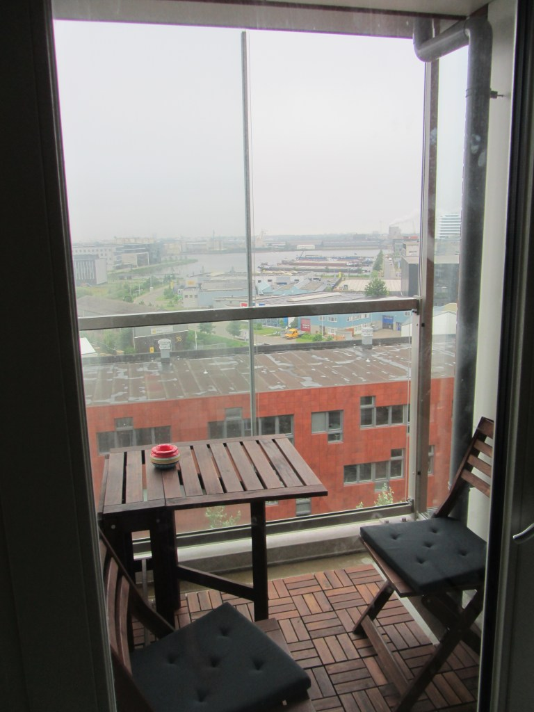 Balcony and the View at the Airbnb in Amsterdam