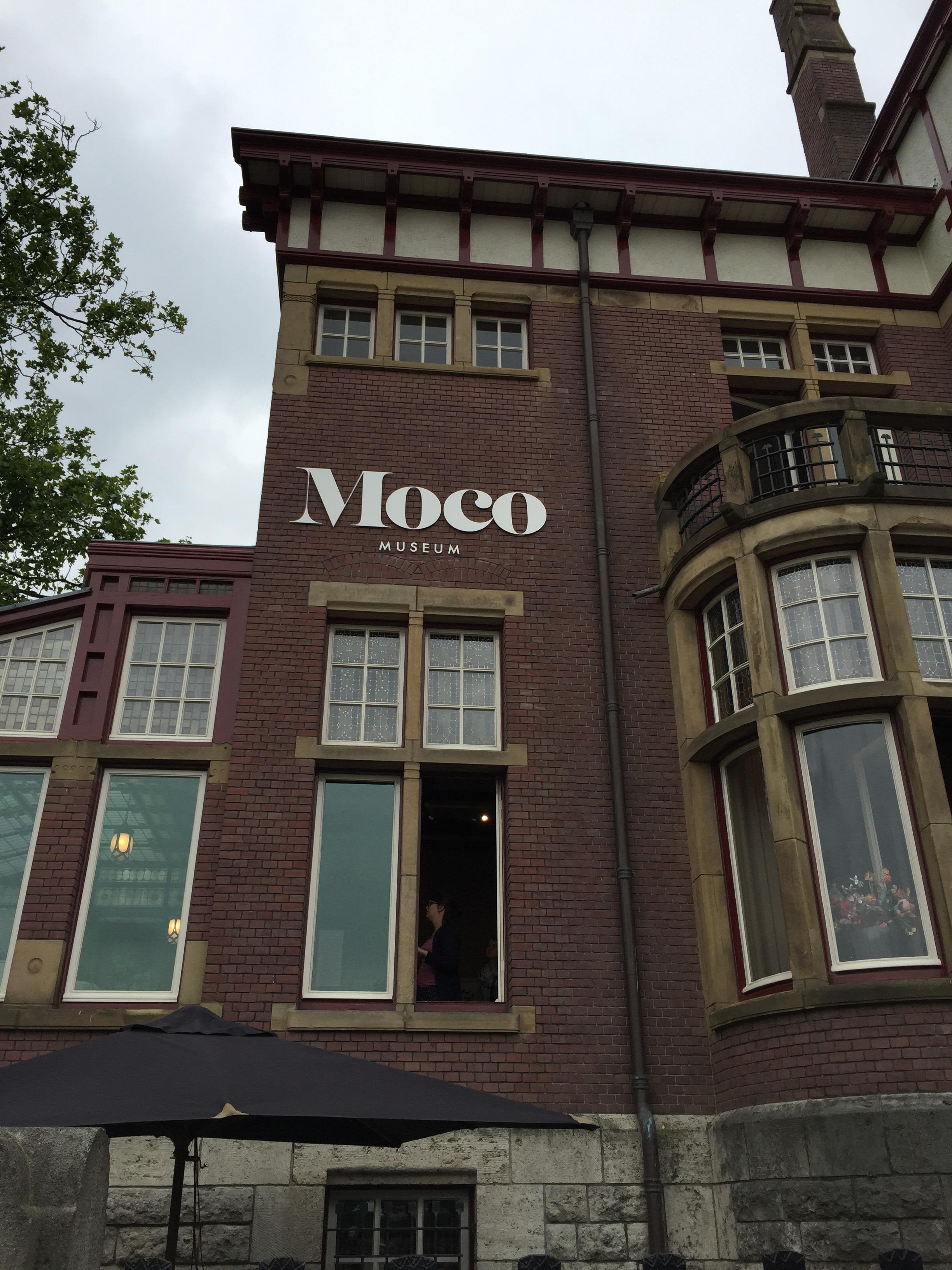 Moco Museum building in Amsterdam