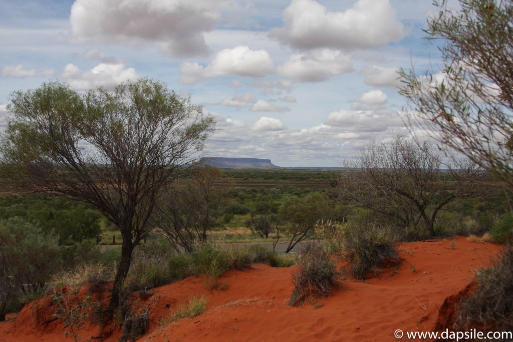 Our First Stop and Picturesque View on the tour from Alice Springs to Uluru