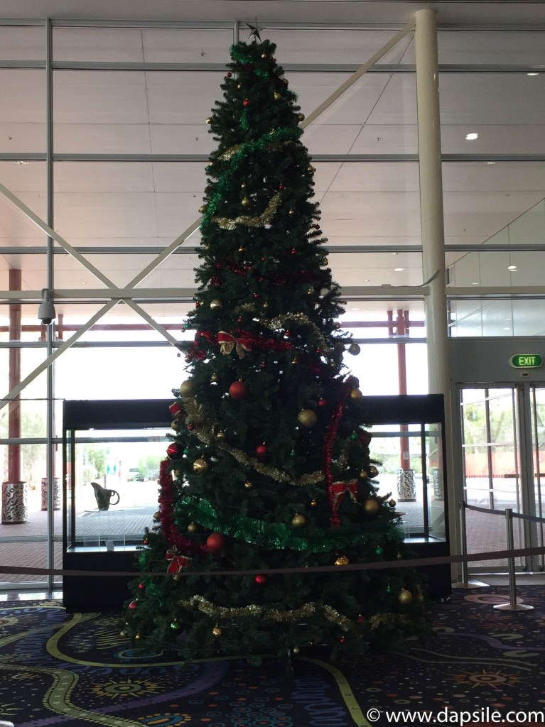 Christmas tree at Alice Springs Airport while visiting the Alice Springs area