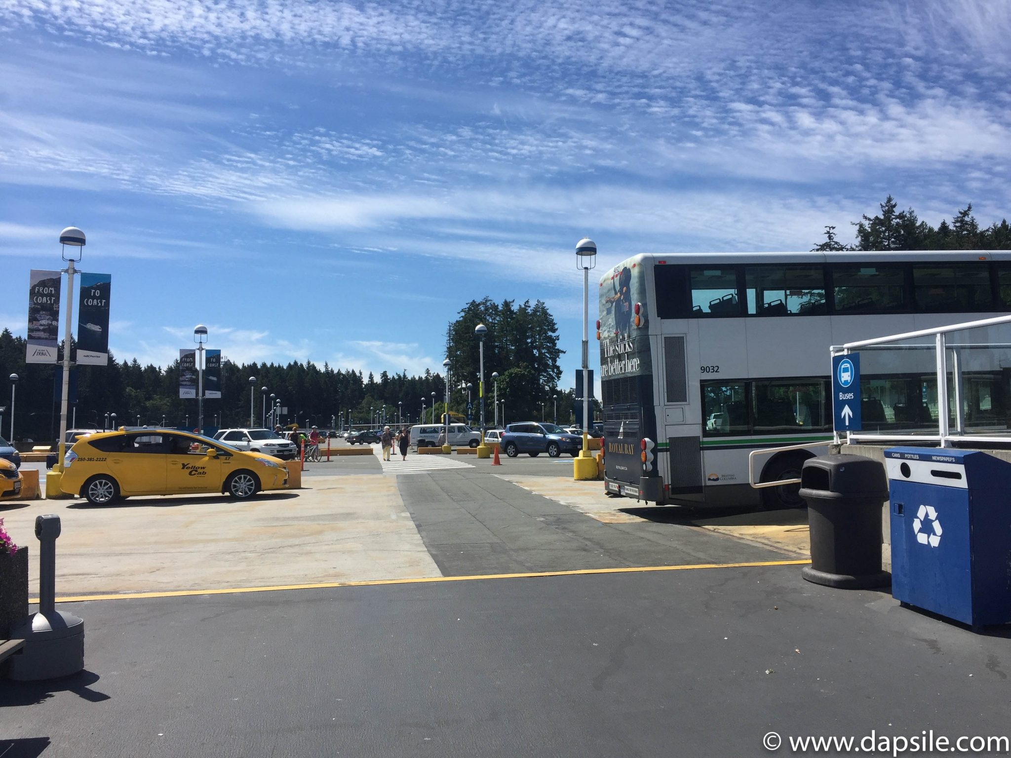 Swartz Bay Ferry Terminal Parking Lot when travelling from Vancouver to Victoria by Ferry