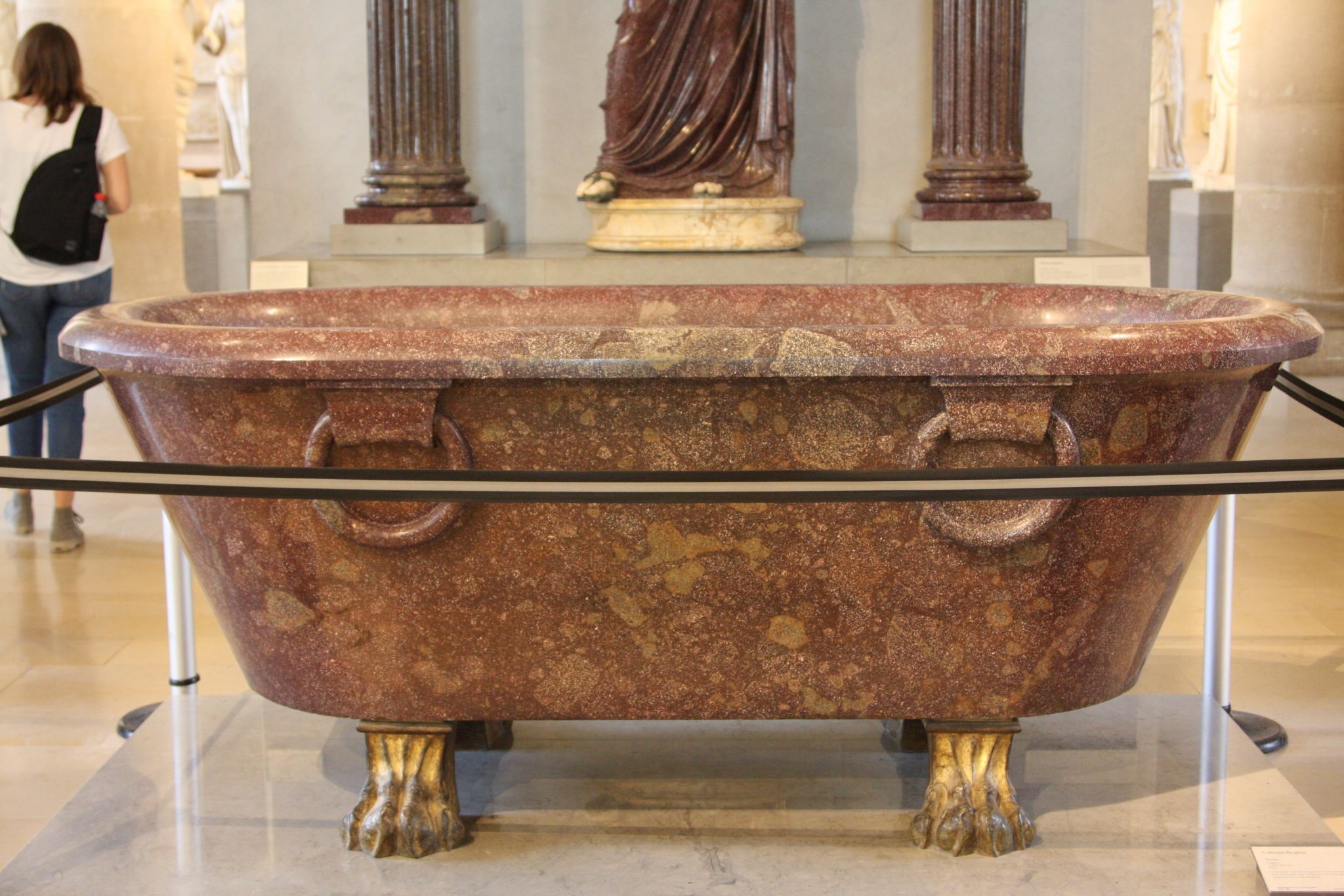 A Giant Marble Tub in the Louvre in Paris