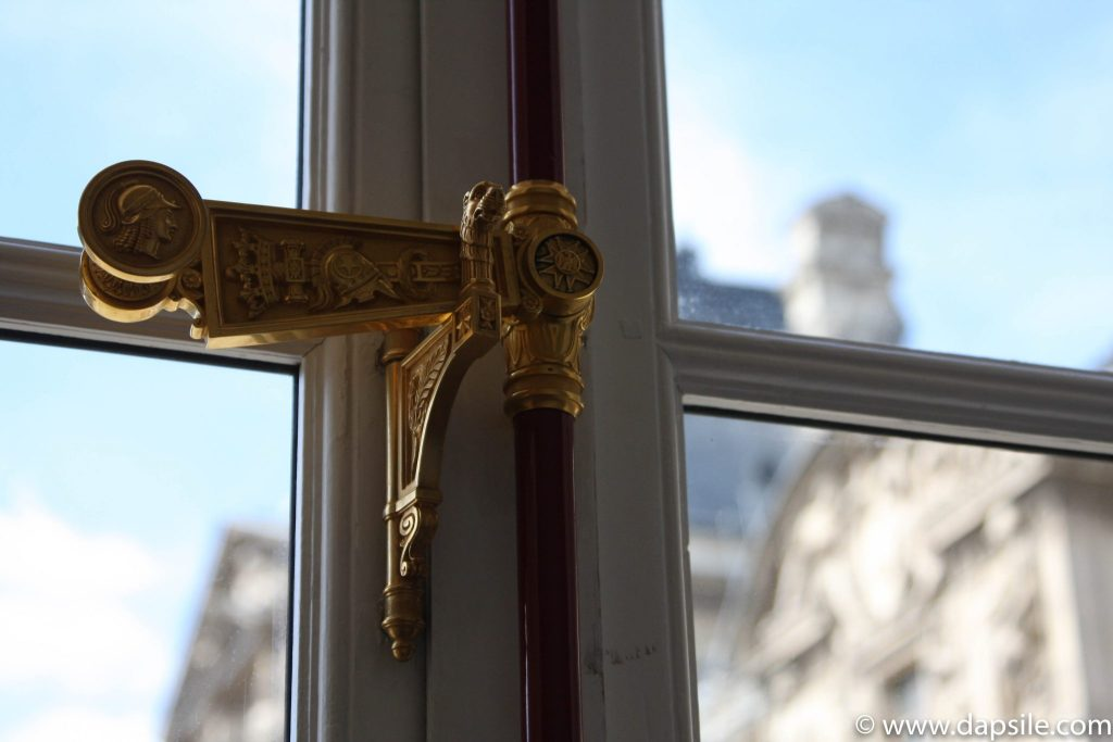 Decorative Window Handle at the Louvre in Paris