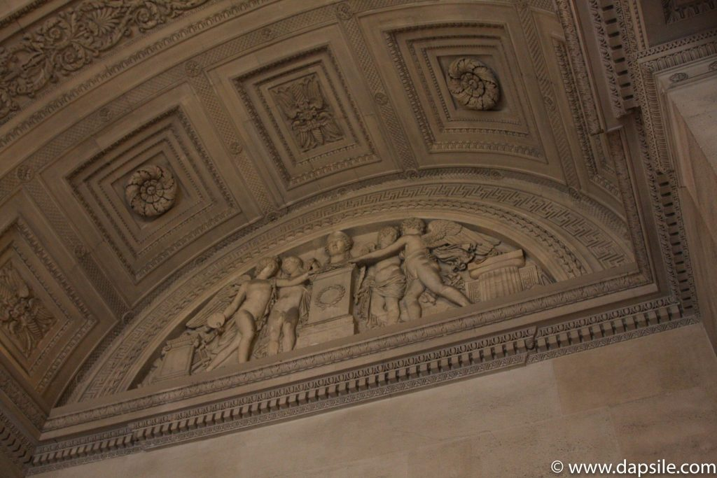 Decorative Stone Work on the Ceiling at the Louvre in Paris