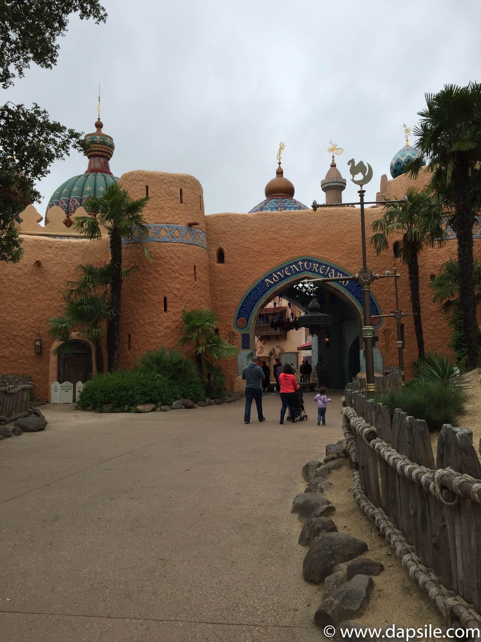 Entrance to Adventureland at Disneyland in Paris Sights