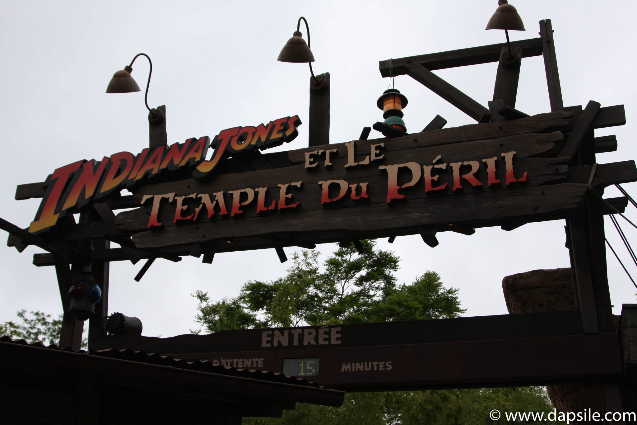 Entrance to the Indiana Jones Ride in Disneyland in Paris Sights