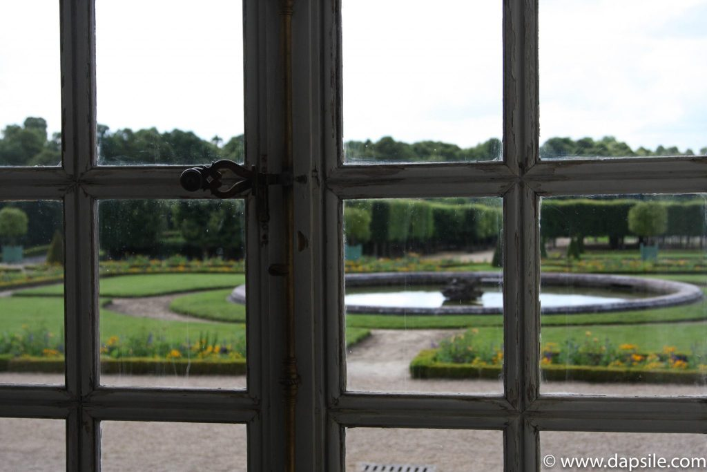 Palace of Versailles Garden through the Window in Paris Sights
