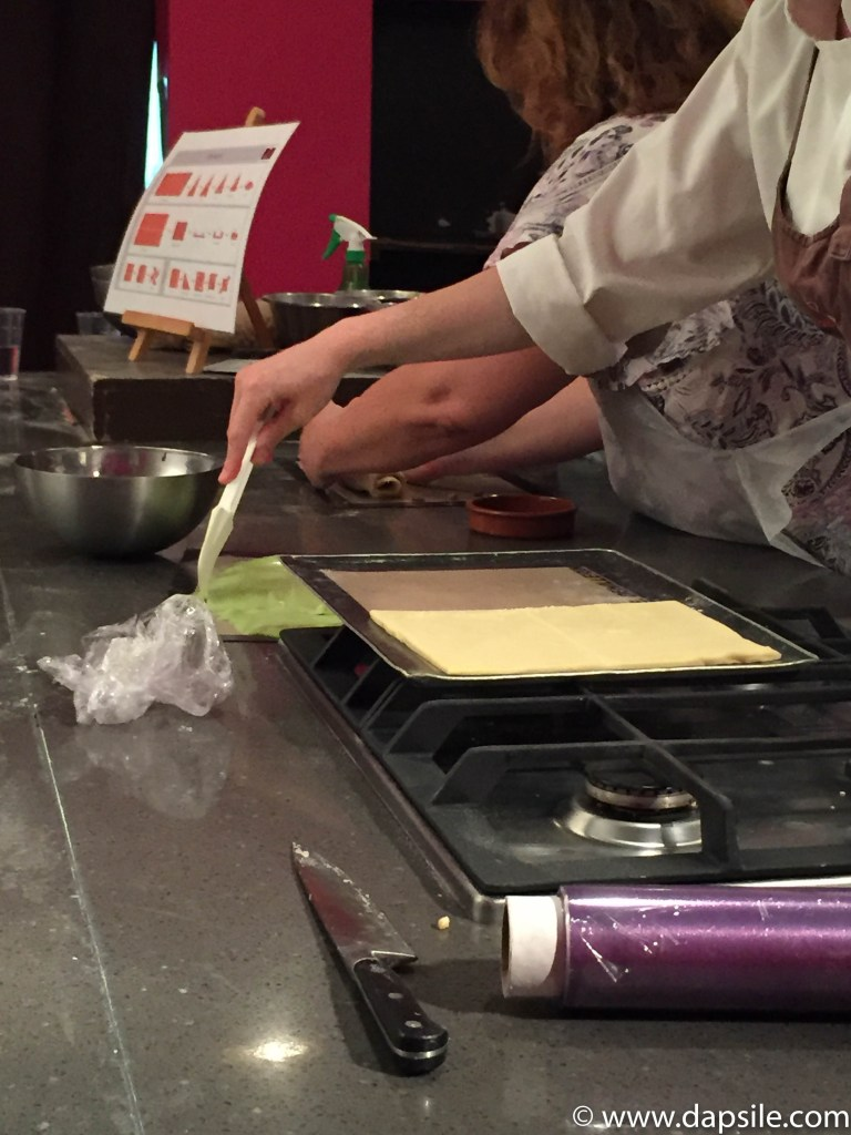 The Baking Process with Pastry Cream in Paris Sights