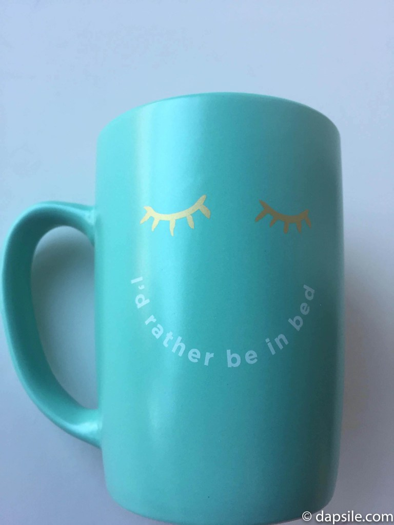 I'd Rather Be in Bed Mug from the FabFitFun Winter 2017 subscription box