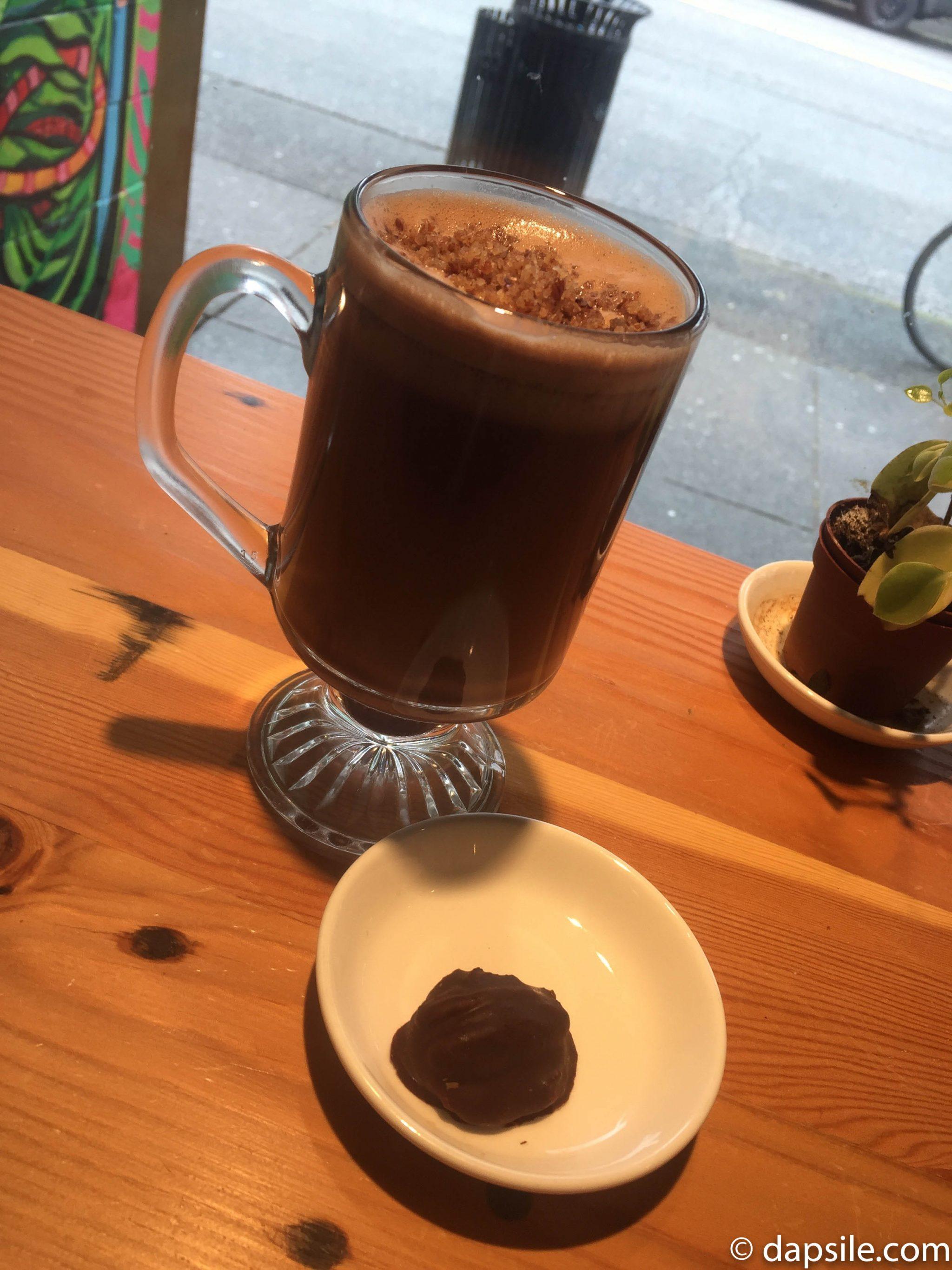 Hot Chocolate Festival Vegan Turtle Hot Chocolate at Eternal Abundance