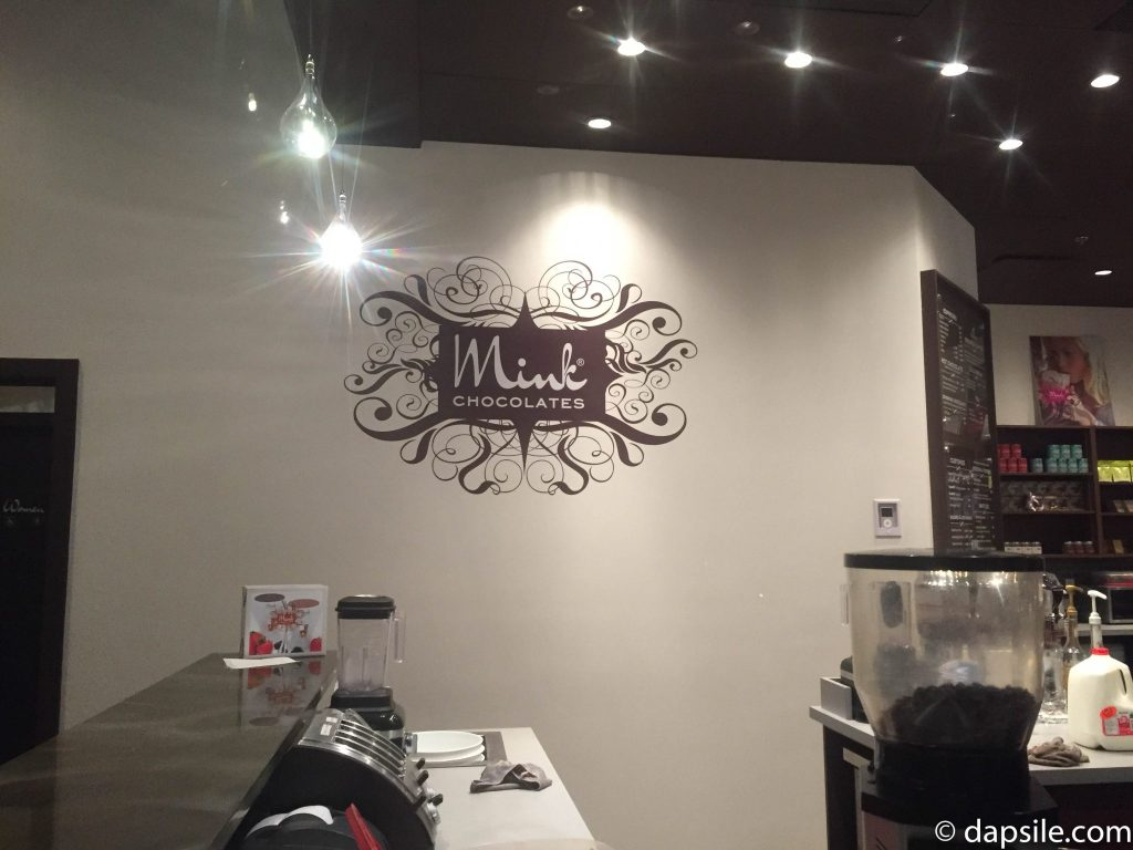 Mink Chocolates Logo on the Wall in South Surrey