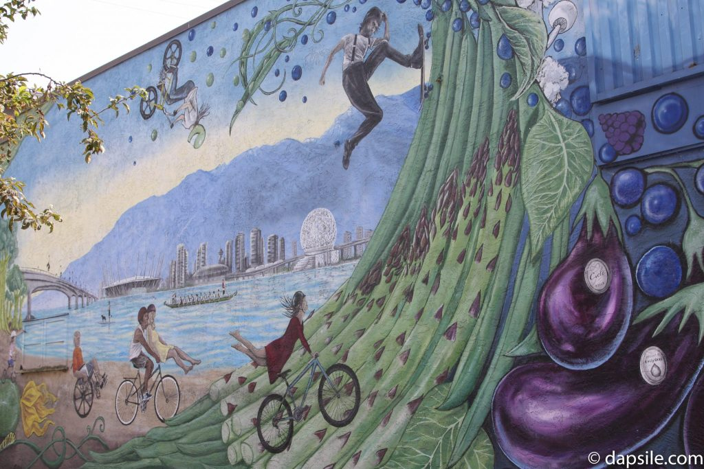 Mural Festival Bikes Eggplants and Grapes Summer Street Festivals in the Vancouver Area