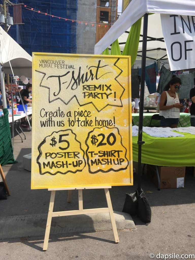 Mural Festival TShirt Remix Party Sign