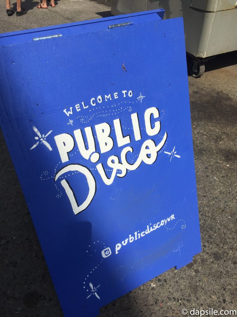 Public Disco Sign at the Mural Festival