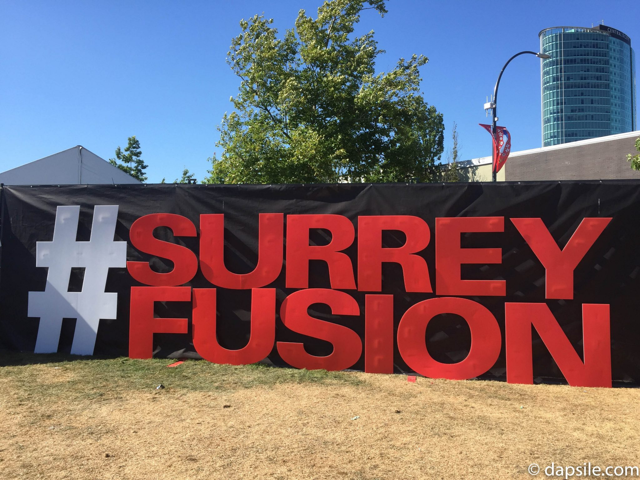 Surrey Fusion Hashtag Sign
