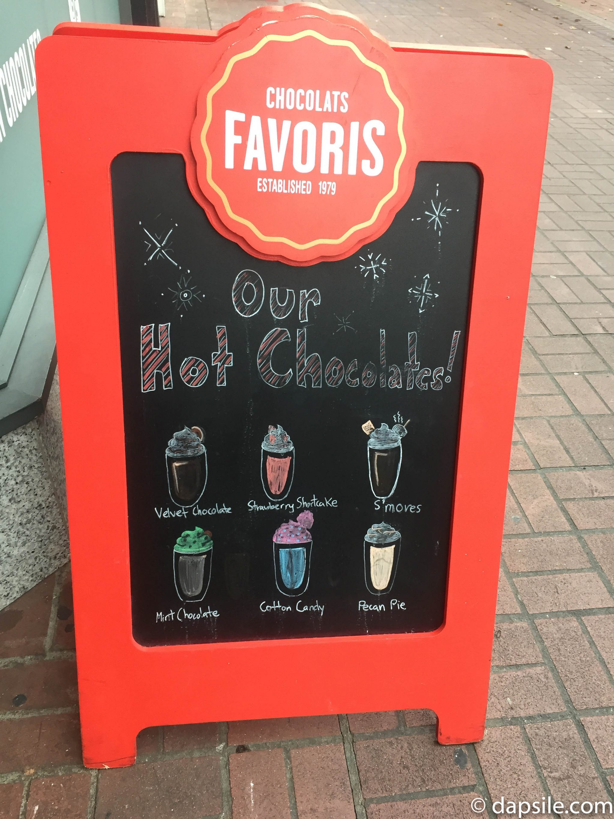 Things to do in Victoria Chocolats Favoris Hot Chocolate Flavours