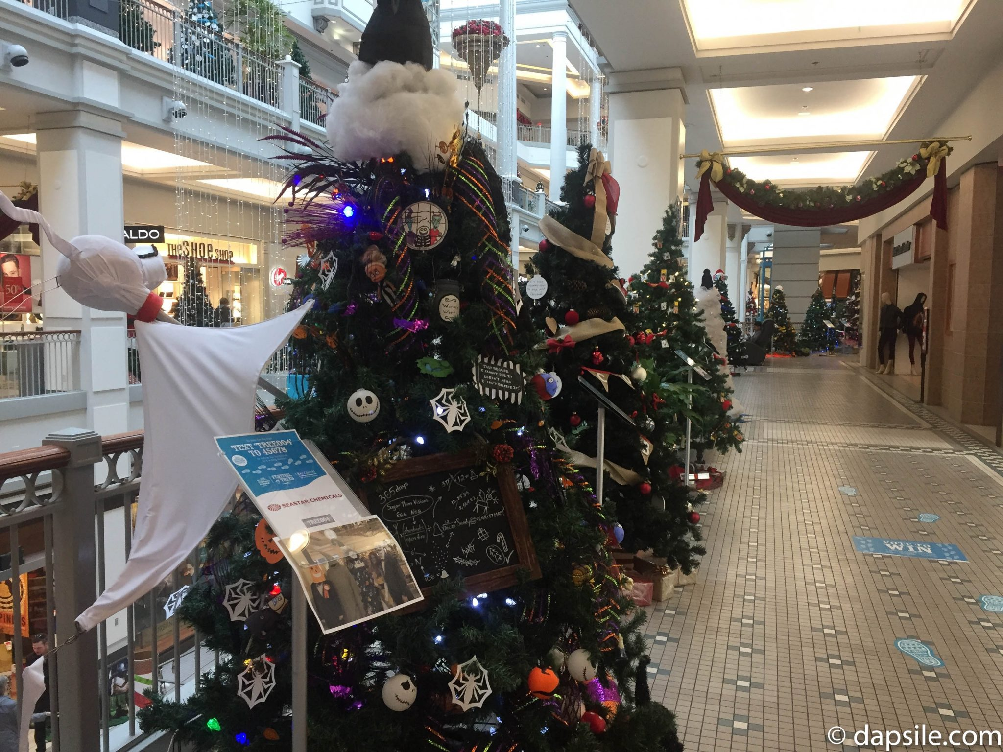Things to do in Victoria Christmas Tree Festival Trees Including Nightmare Before Christmas