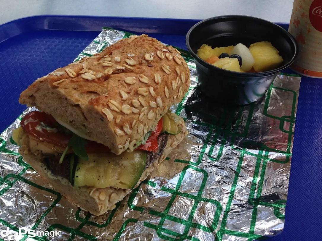Tomorrowland Terrace - Portobello & Vegetable Sandwich