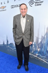 """ANAHEIM, CA - MAY 09: Songwriter Richard M. Sherman attends the world premiere of Disney's """"Tomorrowland"""" at Disneyland, Anaheim on May 9, 2015 in Anaheim, California. (Photo by Alberto E. Rodriguez/Getty Images for Disney) *** Local Caption *** Richard M. Sherman"""