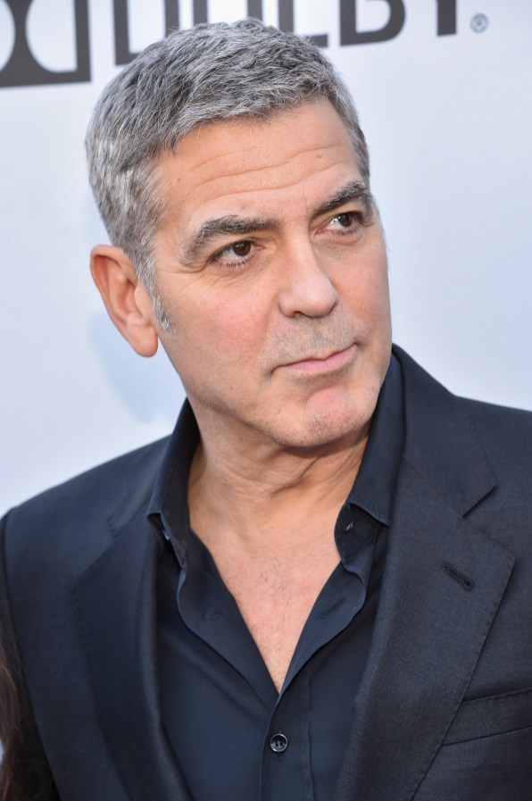 "ANAHEIM, CA - MAY 09: Actor George Clooney attends the world premiere of Disney's ""Tomorrowland"" at Disneyland, Anaheim on May 9, 2015 in Anaheim, California. (Photo by Alberto E. Rodriguez/Getty Images for Disney) *** Local Caption *** George Clooney"