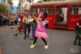 Minnie Mouse Joins Mickey Mouse in Red Car Trolley News Boys-13