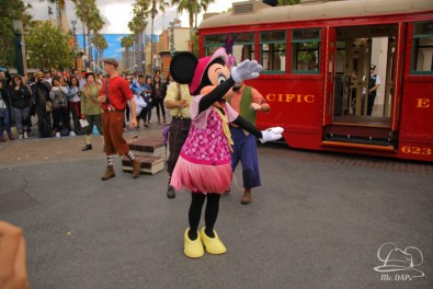 Minnie Mouse Joins Mickey Mouse in Red Car Trolley News Boys-16