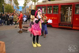 Minnie Mouse Joins Mickey Mouse in Red Car Trolley News Boys-17