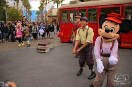 Minnie Mouse Joins Mickey Mouse in Red Car Trolley News Boys-25